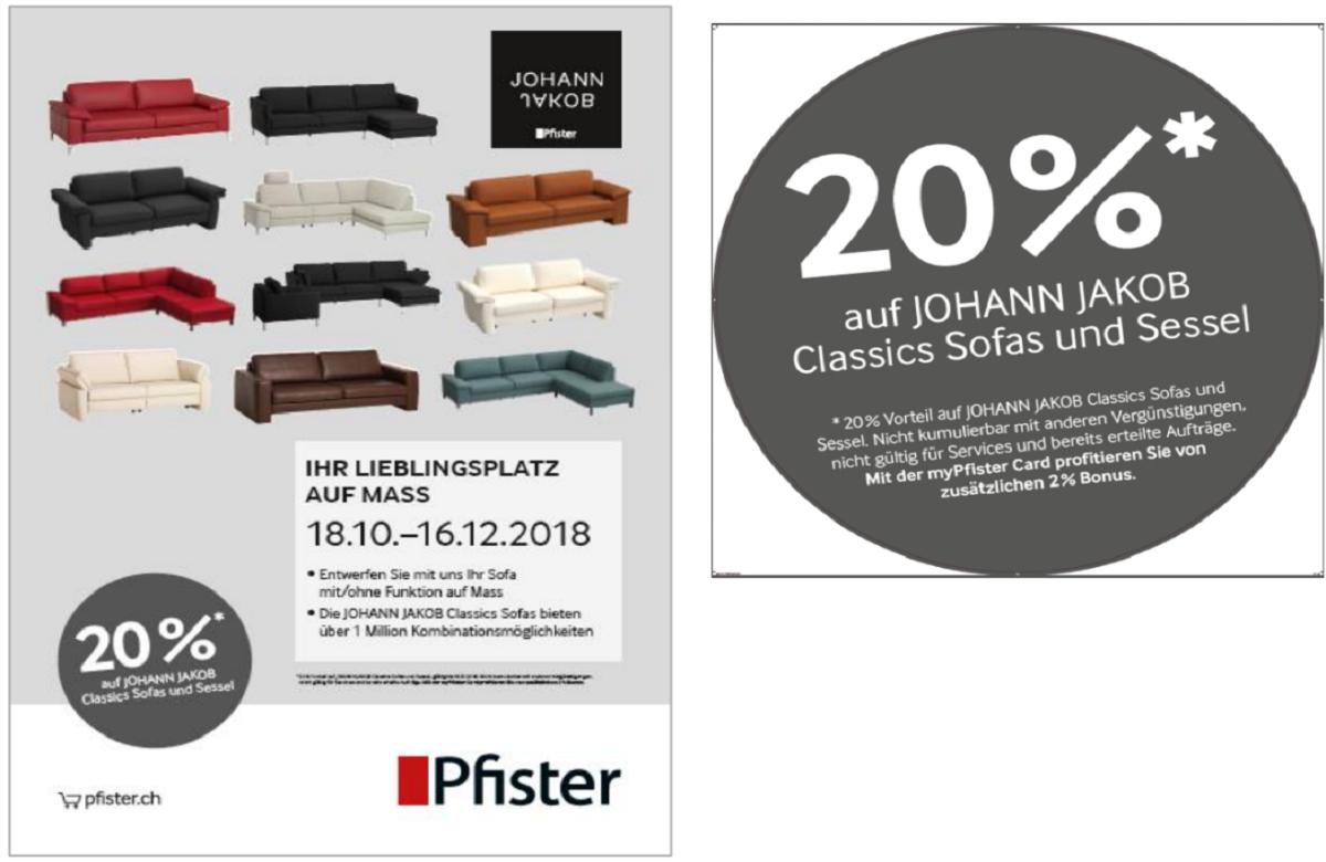 PFISTER |20% canapés classics|