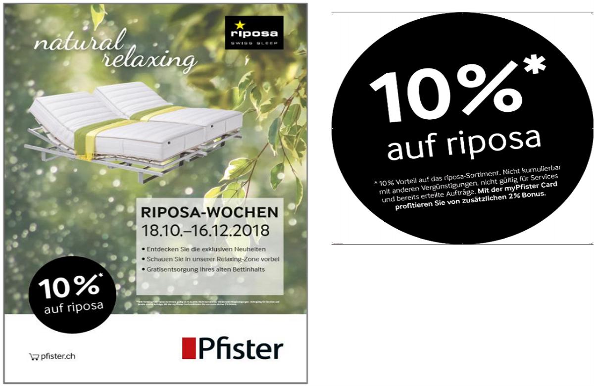PFISTER |10% Literie Riposa|