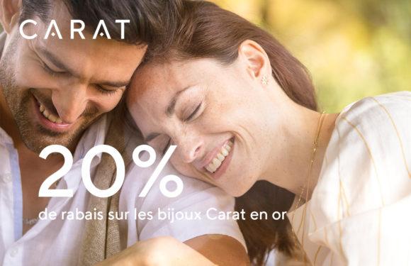 CARAT |20% de rabais sur les bijoux Carat en or|