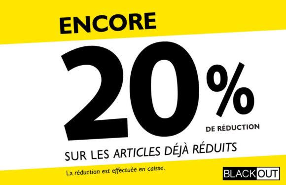 BLACKOUT  20% de réduction 