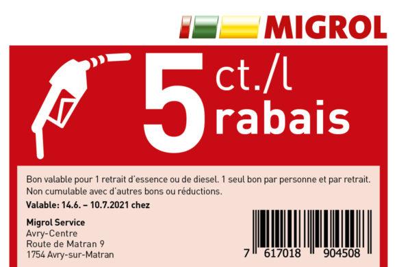 MIGROL | 5 cts/l de réduction |