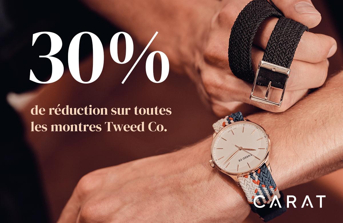 CARAT |30% de réduction sur toutes les montres Tweed Co.|