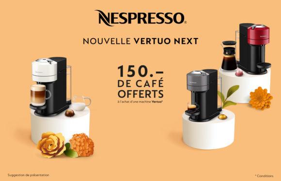 Nespresso |Nouvelle machine Vertuo Next|