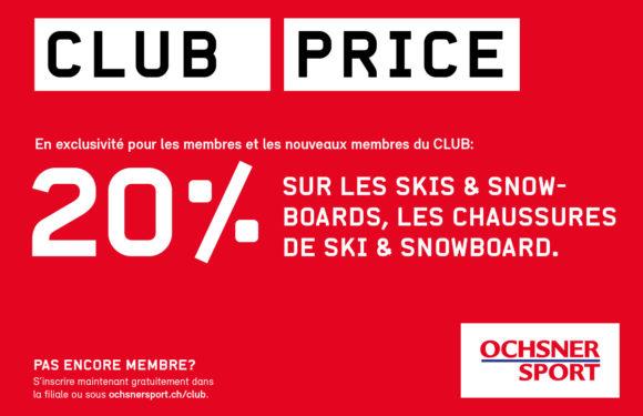 OCHSNER SPORT | Club Price |